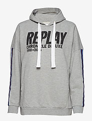 Replay - Sweatshirt - hoodies - light grey melange - 0