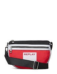 Bag - BLOOD RED -BLACK-OPTICAL WHITE