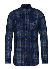 INDIGO FLANNEL CHECK - NAVY/BLUE/GREY