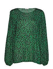 Long-sleeved t-shirt - GREEN/BLACK ANIMALIER