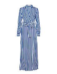 Dress - CYAN-WHITE