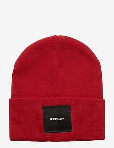 BEANIE KNIT EFFECT - RED