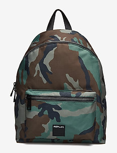 Bag - backpacks - dk iron green-black-dark sand-bright sand