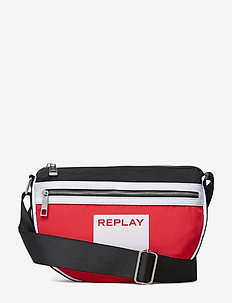 Bag - bum bags - blood red -black-optical white