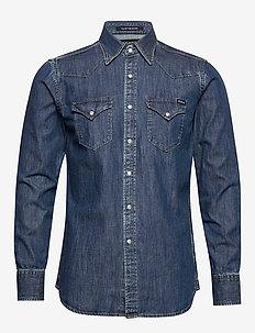 Shirt - basic-hemden - medium blue