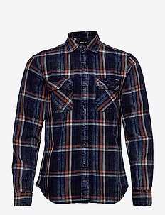 Shirt - geruite overhemden - blue/white/orange