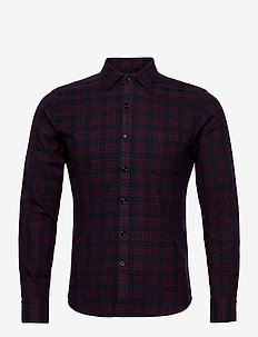 Shirt - geruite overhemden - blue/brick red