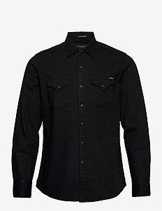 Shirt - peruspaitoja - black