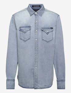 Shirt AGED - basic overhemden - light blue