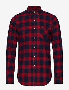 COTTON FLANNEL CHECK - checkered shirts - dark blue/red