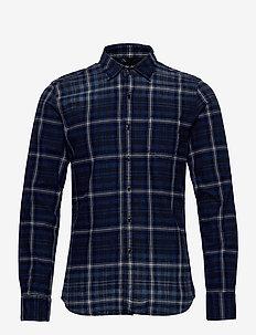 Shirt - rutede skjorter - dark blue/natural white