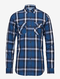 Shirt - BLUE/WHITE/BLACK CHECK