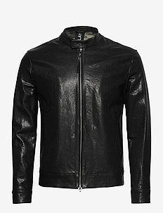 Leather Jacket - leather jackets - black