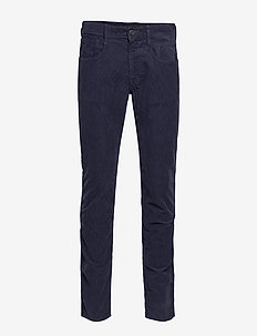 ANBASS - casual trousers - dark blue