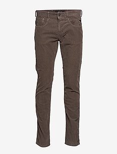 ANBASS - casual trousers - dark mud