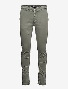ZEUMAR Trousers Hyperchino Color Xlite - chinos - military green..