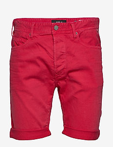RBJ.901 SHORT - denim shorts - deep red