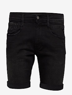 ANBASS SHORT - denim shorts - black