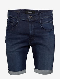 ANBASS SHORT - denim shorts - dark blue