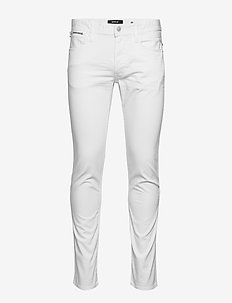 ANBASS COIN ZIP - slim jeans - white