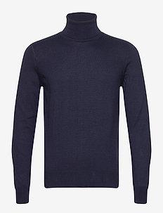 Sweatshirt - basic strik - blue