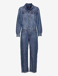 Jumpsuit Rose Label Pack - jumpsuits - medium blue