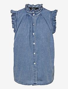 Shirt - blouses zonder mouwen - light blue