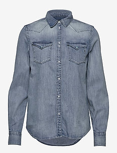Shirt - denim shirts - light blue