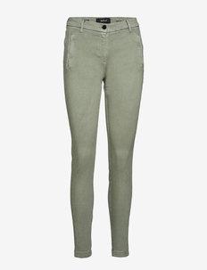 KARYNA Hyperflex™ - proste dżinsy - sage green
