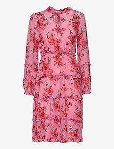 Dress - cocktailjurken - pink/red/forest green
