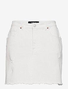 Skirt - denim skirts - optical white