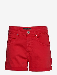 Shorts - jeansowe szorty - deep red