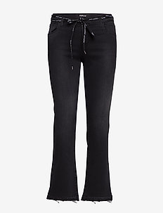 POPPI - utsvängda jeans - black