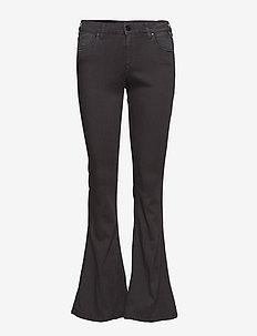 STELLA FLARE - utsvängda jeans - black