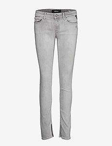 LUZ ANKLE ZIP - jeans skinny - grey