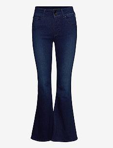 NEWLUZ FLARE - flared jeans - dark blue