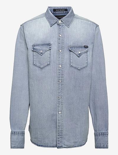 Shirt AGED - podstawowe koszulki - light blue
