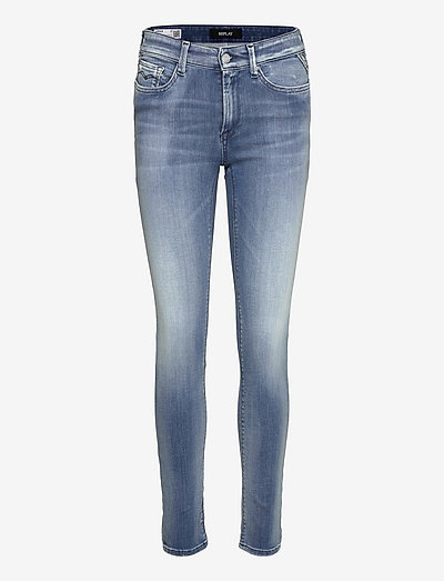 LUZIEN Trousers White Shades - skinny jeans - light blue