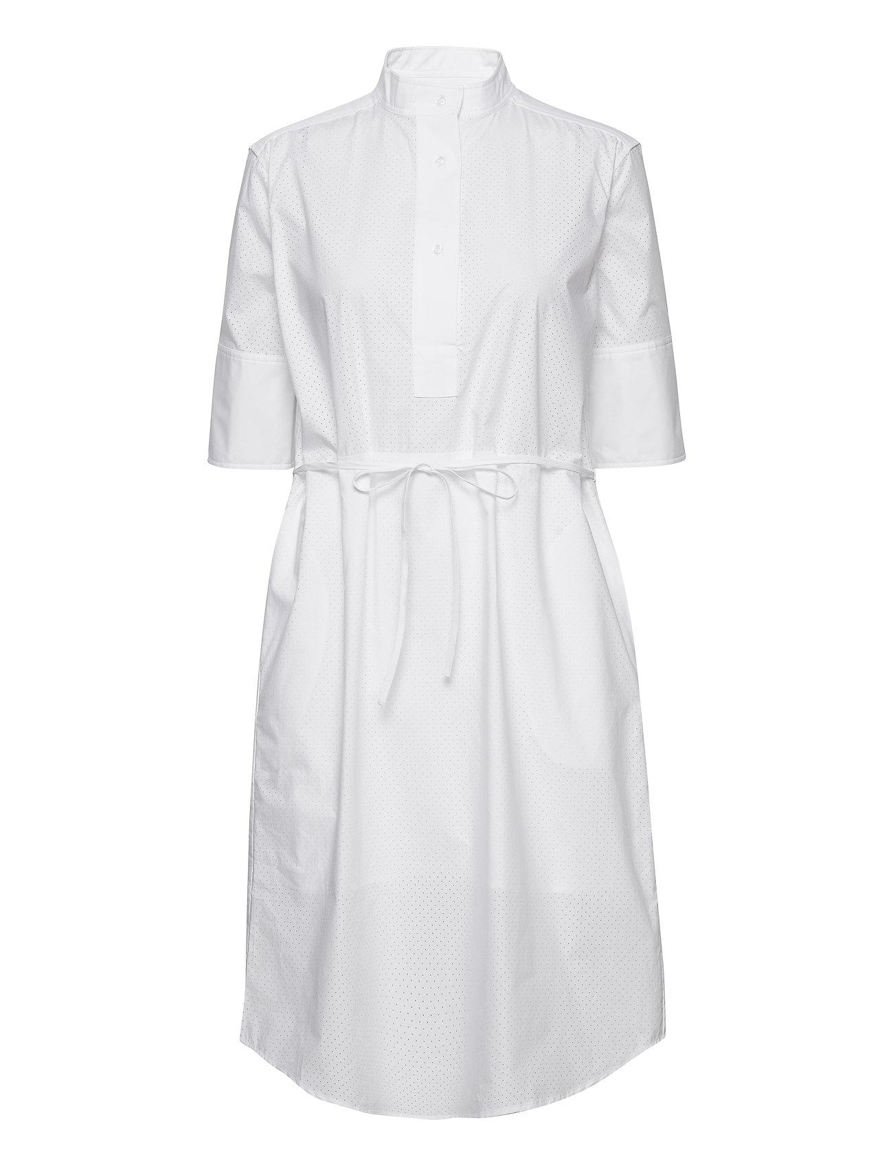 Bonnie Popover Dress Knælang Kjole Hvid Residus