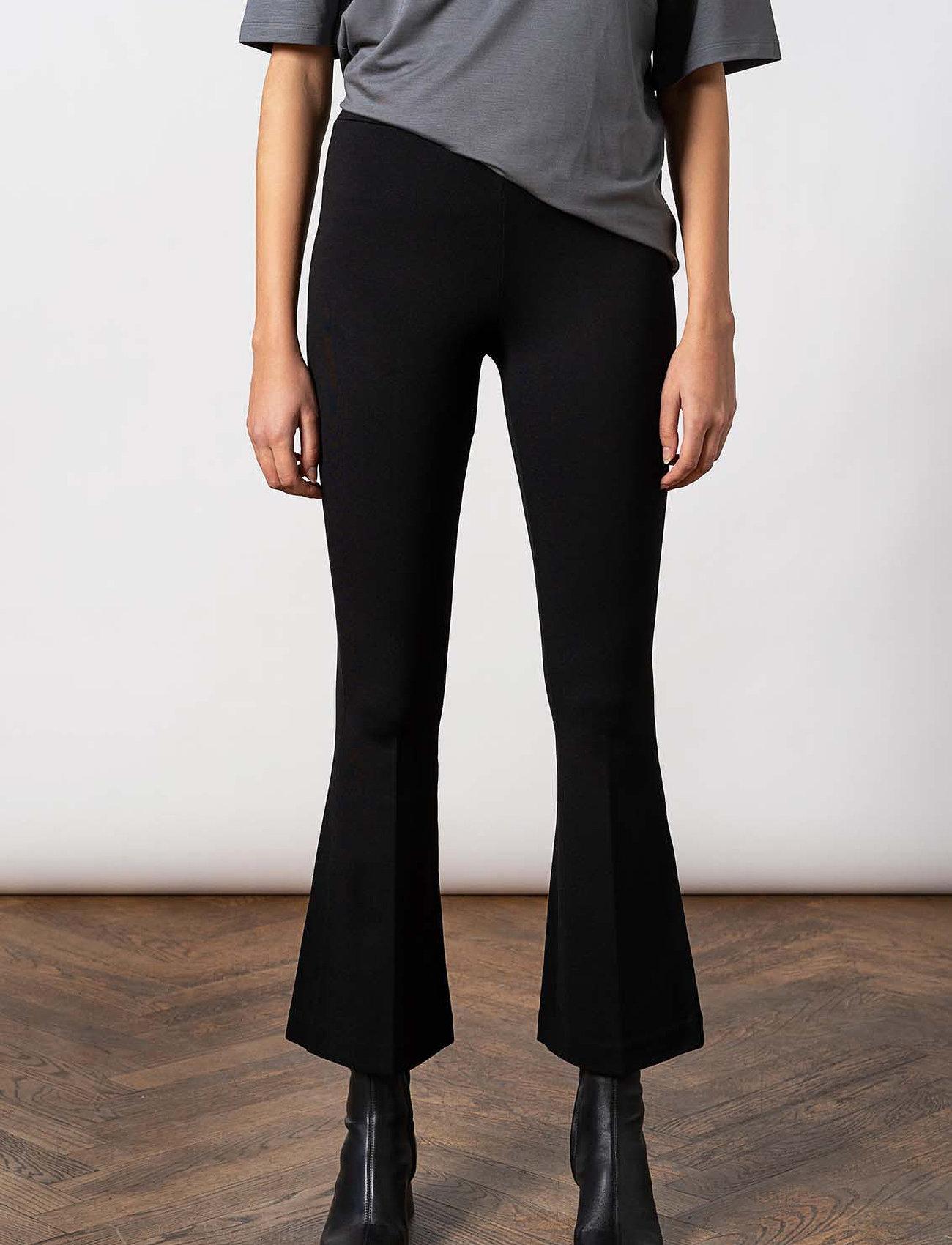 Residus - LANA FLARE PANT - vêtements - black - 0
