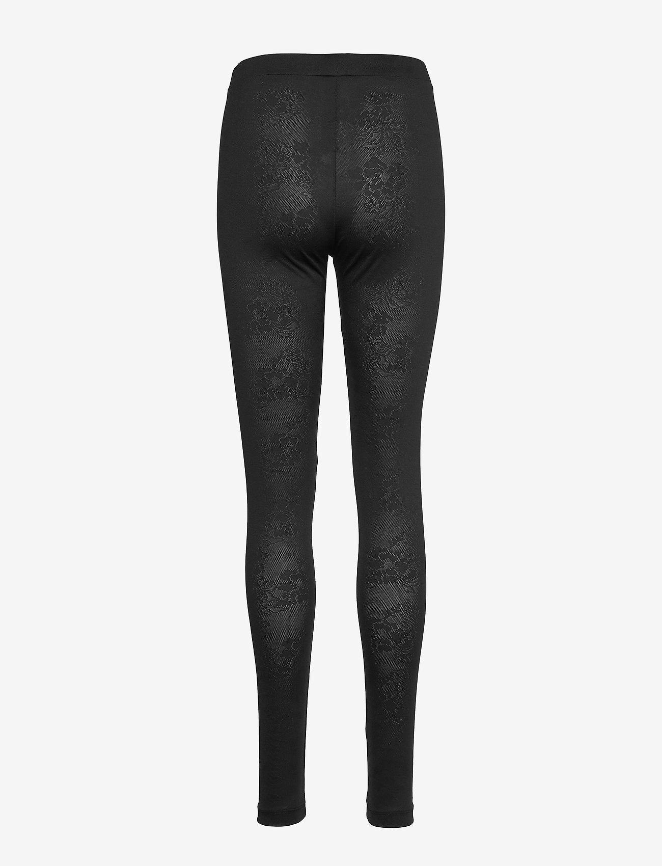 Residus - BEY JACQUARD TIGHTS - leggings - black - 1