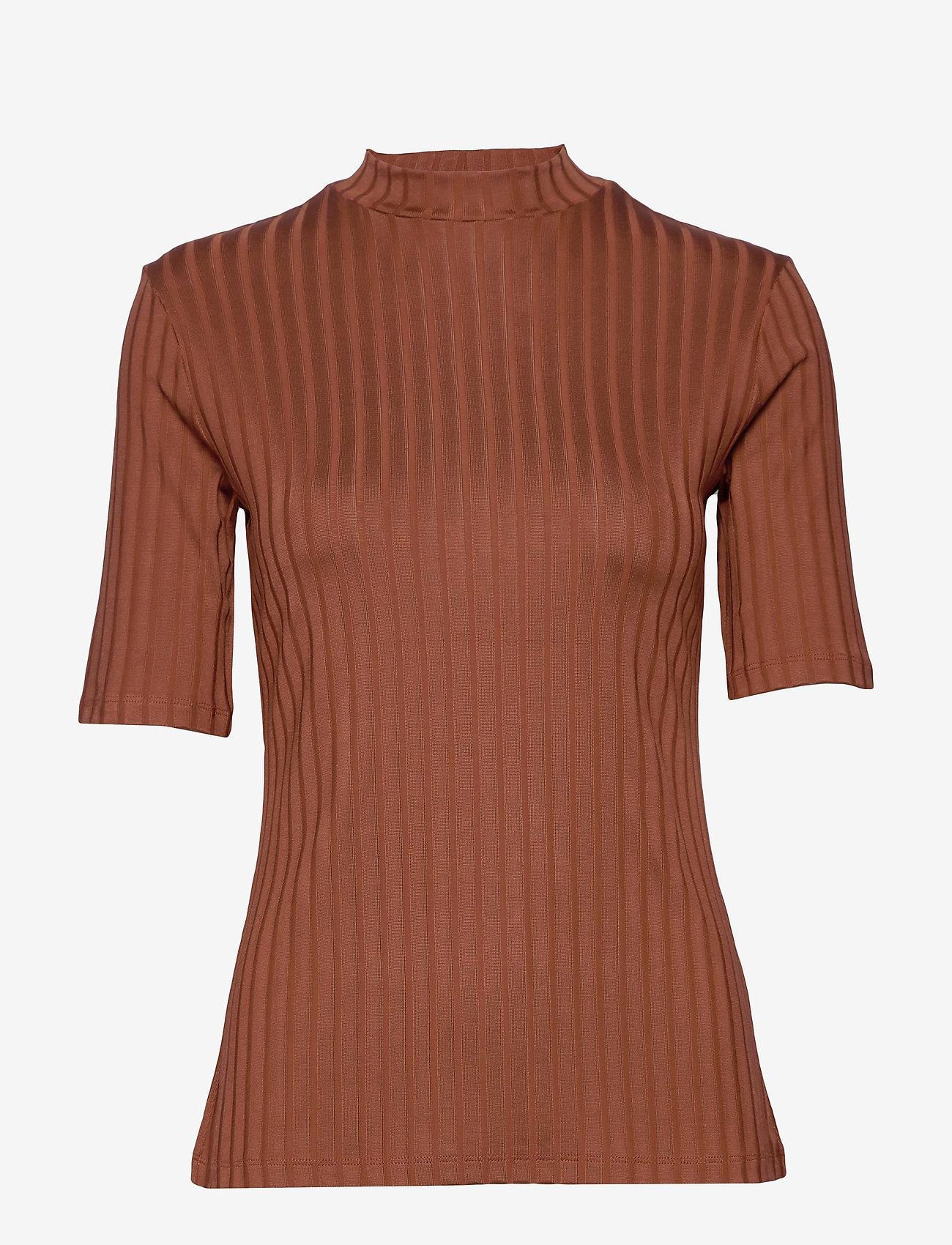 Residus Moss Rib Top - T-shirts & Toppar Cinnamon