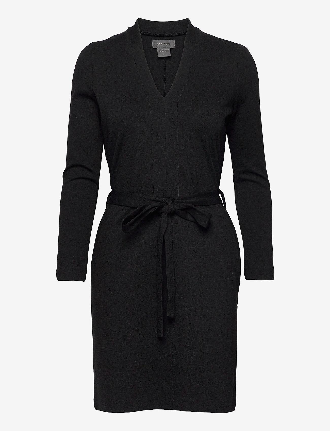 Residus - Lear Ecovero Dress - robes d'été - black - 1