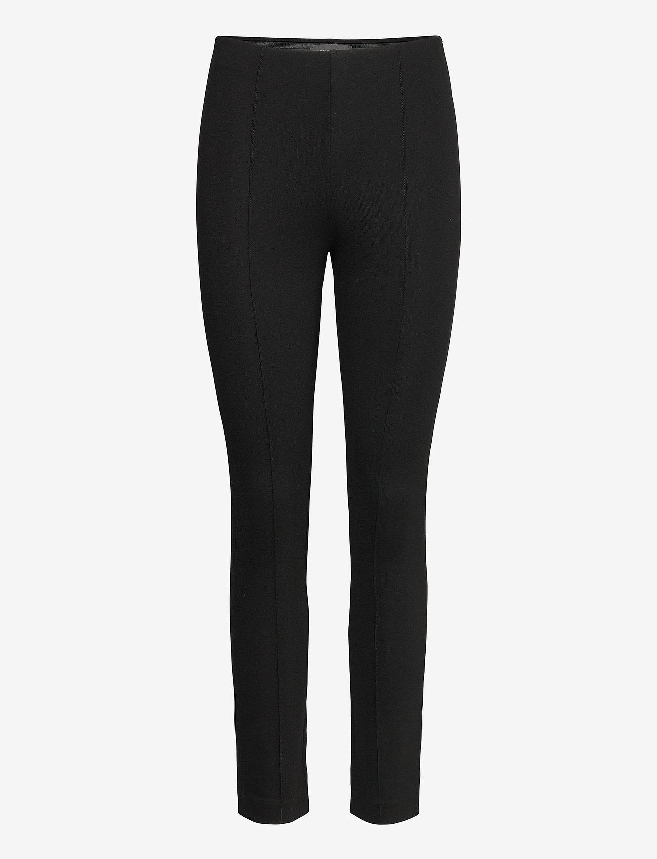 Residus - LOU STRAIGHT PANT - pantalons casual - black - 1