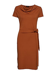 LILY DRESS - WARM COGNAC