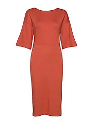 WINIFRED DRESS - FIG RED