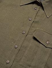 Residus - PINE LINEN SHIRT - overhemden met korte mouwen - dark pine - 6