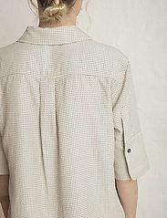 Residus - RODA SASHIKO SHIRT - overhemden met korte mouwen - sand stone - 7