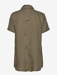 Residus - PINE LINEN SHIRT - overhemden met korte mouwen - dark pine - 2