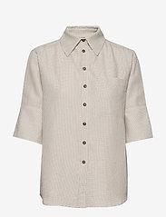 Residus - RODA SASHIKO SHIRT - overhemden met korte mouwen - sand stone - 1